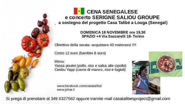 Cena senegalese e concerto per Casa Talibé